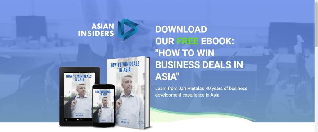 a screenshot of Asian Insiders' website